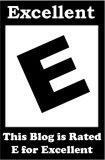 E for Excellent Blog Rating Badge