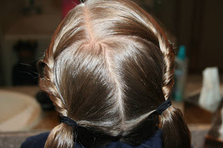Twist-back Ponytail Twists #9
