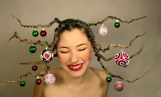 Silly Christmas hair