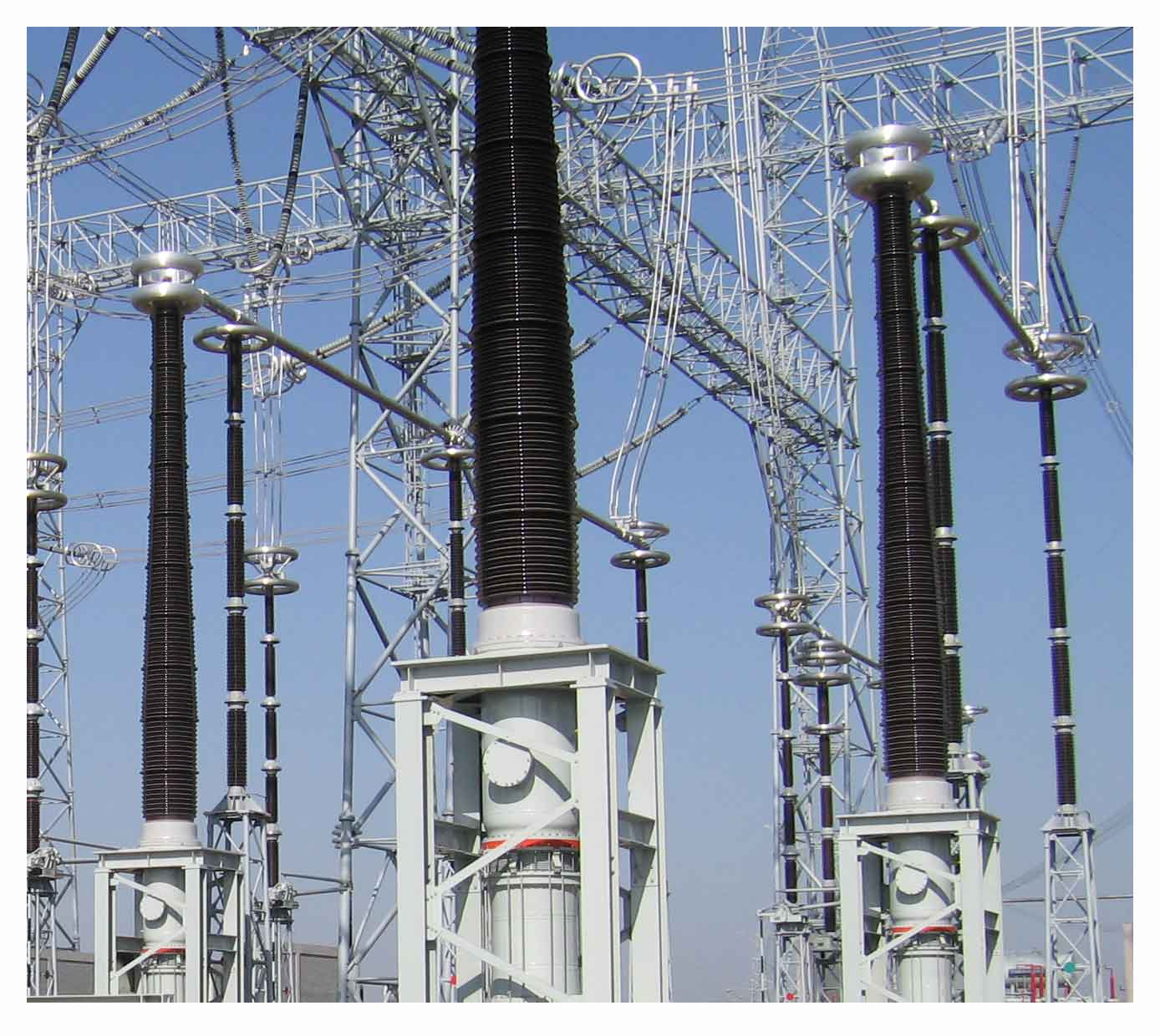 The substation receives voltage at 400kV, 220kV, 132kV or 66kV with the  help of large 3phase step-down transformers.