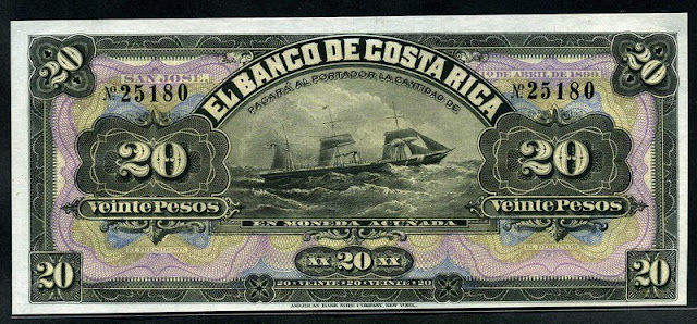 Costa Rica currency Pesos banknote
