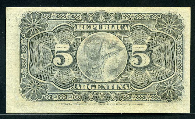 currency Argentina 5 Centavos banknote