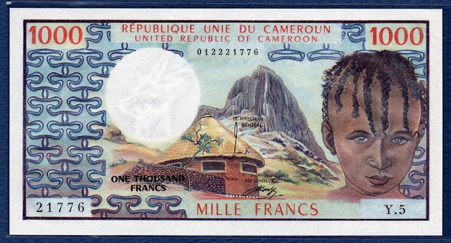 paper money Cameroun 1000 Francs