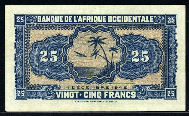 French West Africa 25 Francs Numismatic