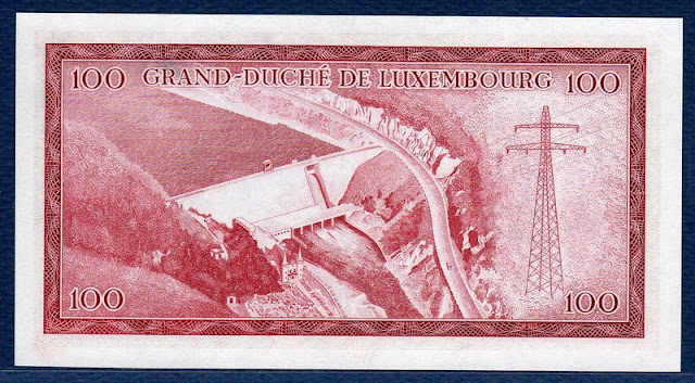 paper money Luxembourg 100 Francs