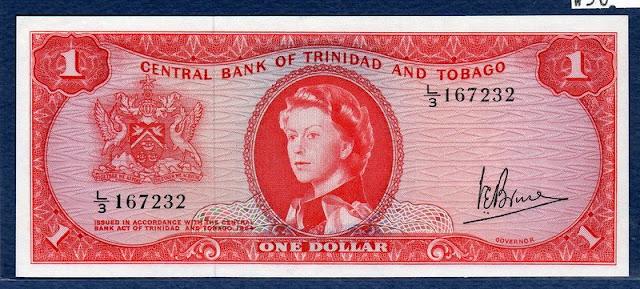 money currency Dollar banknote Trinidad and Tobago Queen Elizabeth II