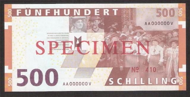 Euro Austria 500 Austrian Schilling banknote bill