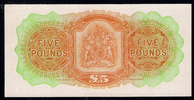 Bermuda Five Pounds note numismatic Paper Money