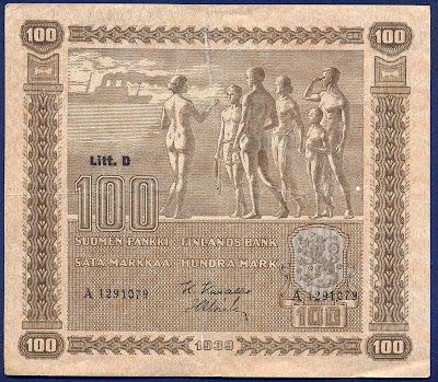 Paper Money Finland 100 markkaa