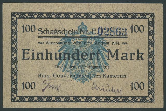 german africa banknote German colonial banknotes Cameroon