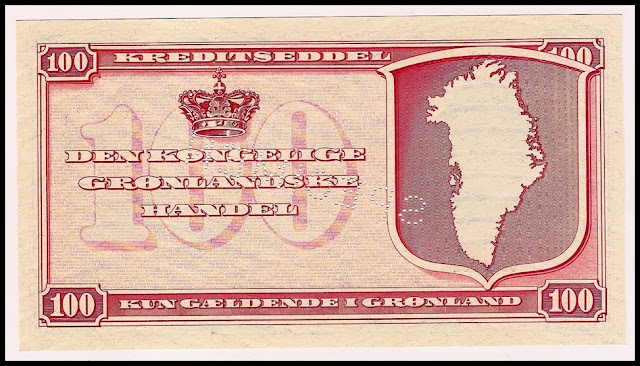 Greenland Currency money image 100 krone banknote