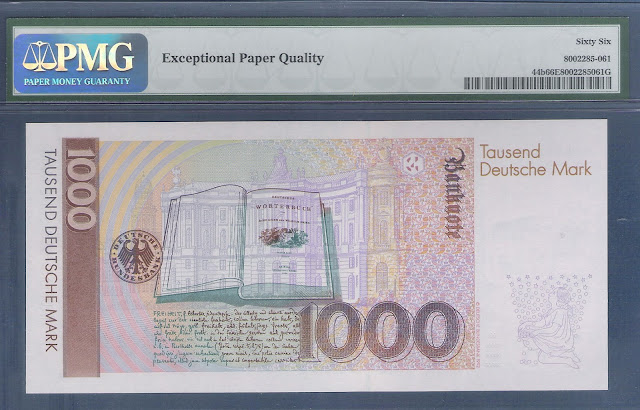 1000 DM Deutsche Mark banknote money currency image