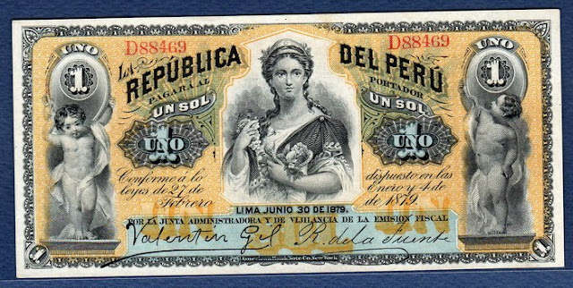 Peru 1 Sol banknote Notafilia Numismática Papiergeld billete collecting world paper money