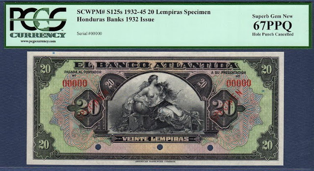 Honduras Banco Atlantida 20 Lempiras banknote world paper money