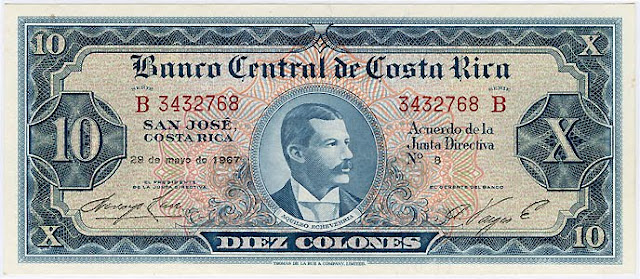 Costa Rica colon banknotes Notafilia Numismática collecting paper money Papiergeld