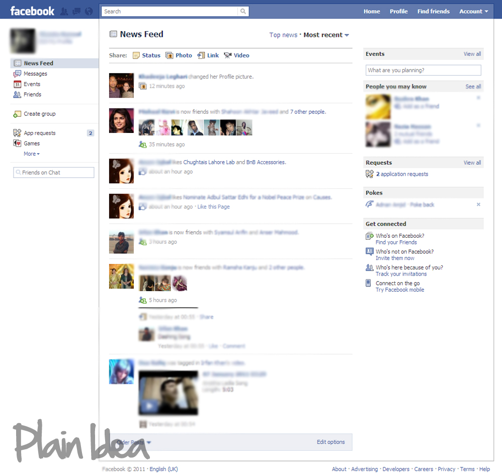plain idea develop facebook from scratch intro. Black Bedroom Furniture Sets. Home Design Ideas