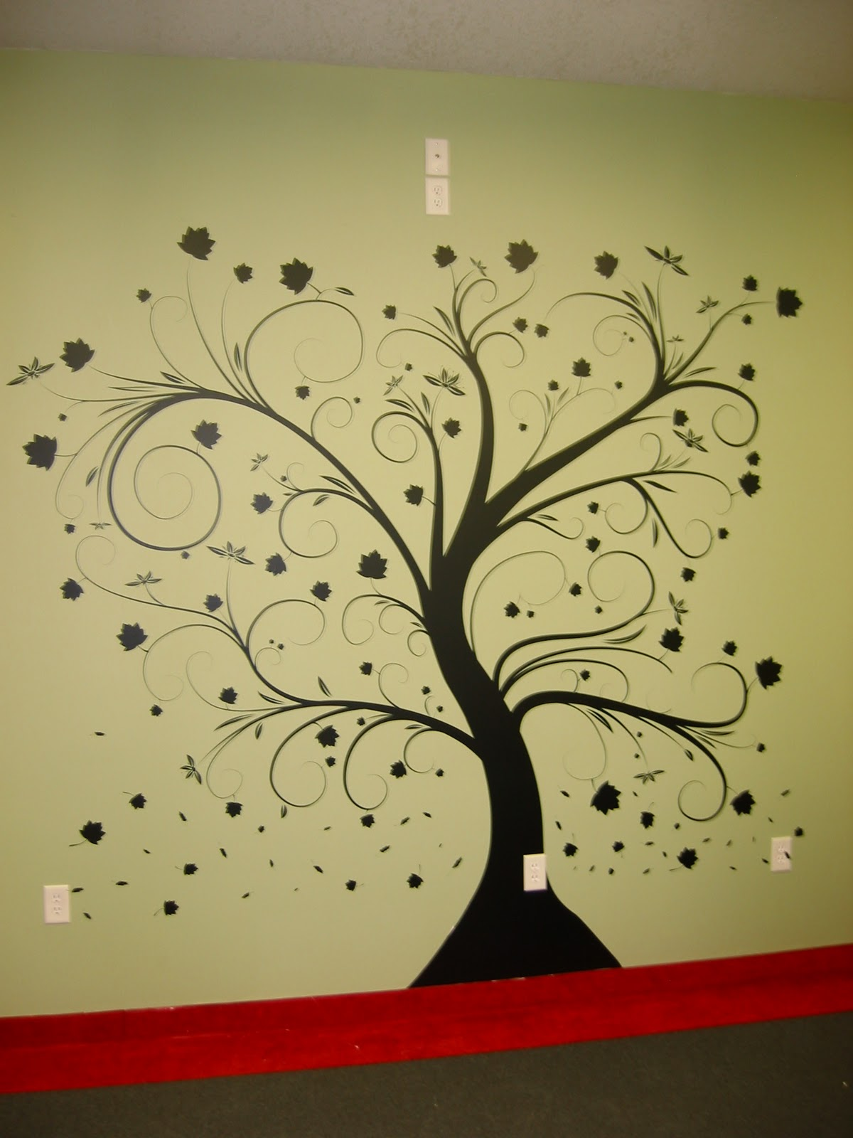 Fine Diy Painted Wall Art Vignette - Wall Art Collections ...