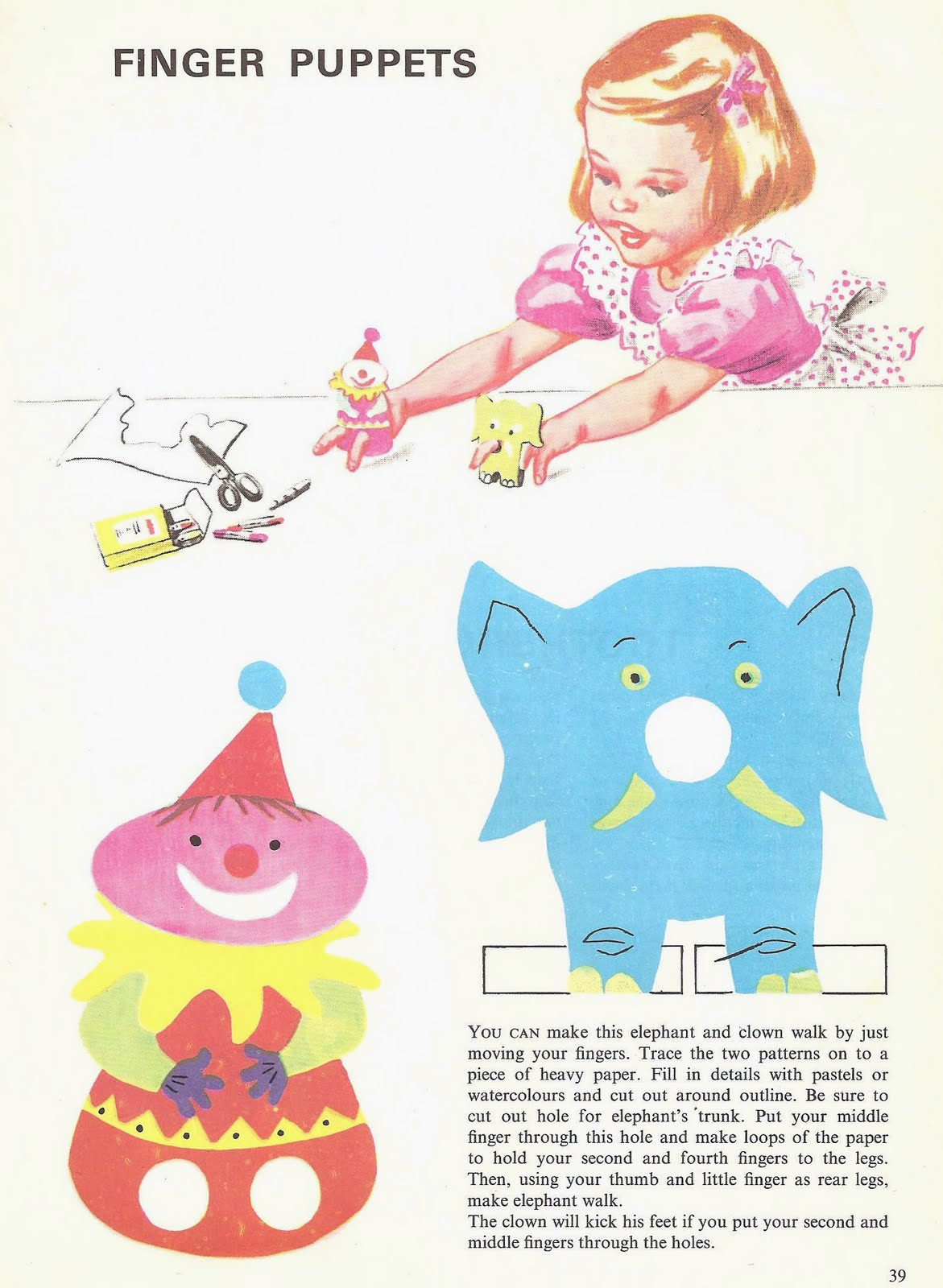 How to make vintage finger puppets