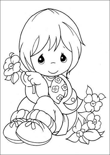 Dibujos infantiles de precious moments para colorear for Precious moments coloring page