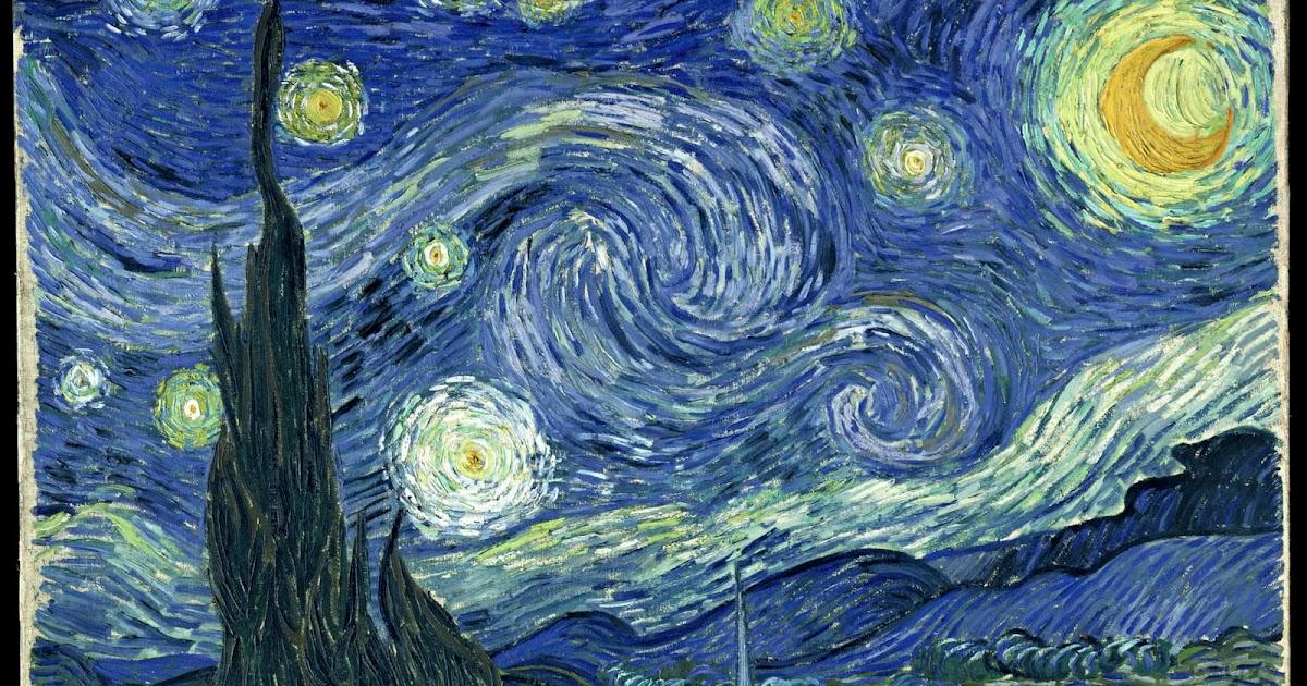 Vincent Van Gogh,La Nuit Etoilee,1889,analyse et etude de la