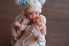 Young girl and her doll