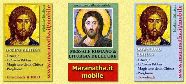 Calendario Liturgico Maranatha.Blog Di Www Maranatha It Maranatha It Mobile Messale