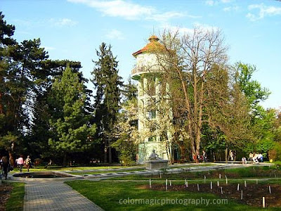 Water tower in Botanical Garden Cluj
