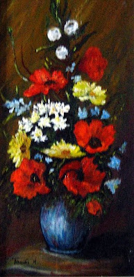 Still life with poppies - original oil painting