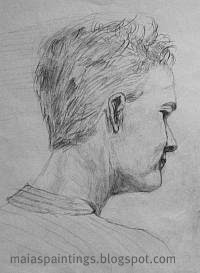Man portrait-pencil sketch
