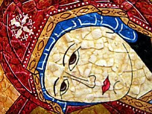 Virgin Mary-icon detail