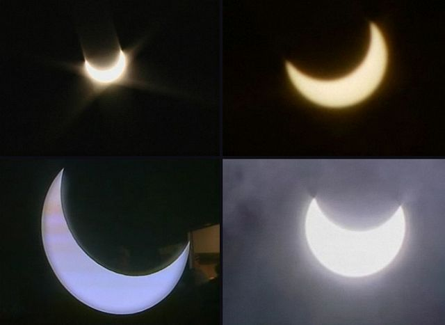 Partial solar eclipse as seen from Romania-2011.Jan.4