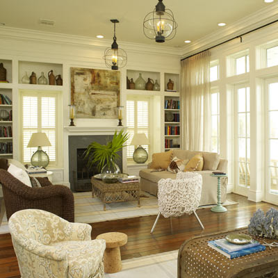 THE BEACH POST: Beachy Living Rooms