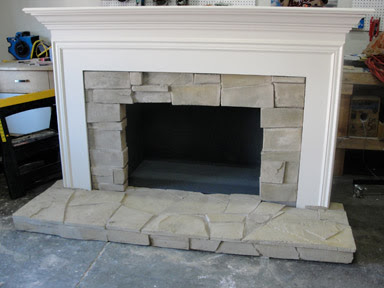 the portable artist fake stone fireplace. Black Bedroom Furniture Sets. Home Design Ideas
