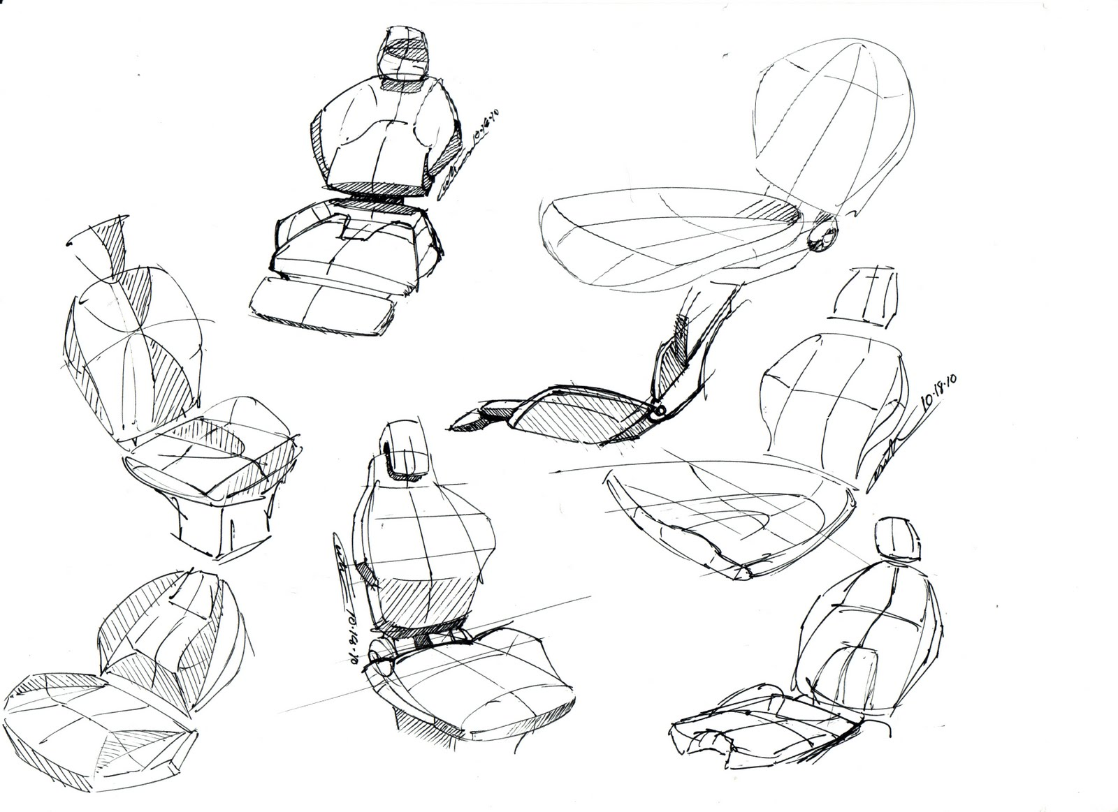 Custer Design Works Early Seat Sketches For A Class 8 Truck