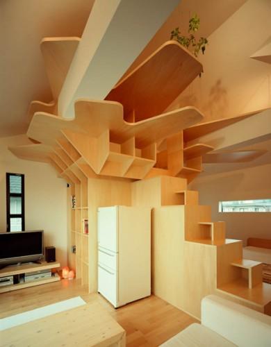 homes design Unique Space Interior Builtin Staircase