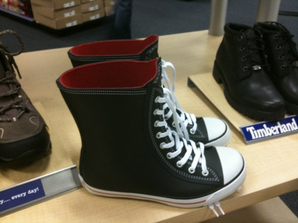 cf31a71dc752 Steena Style  Fabbity Find! Rain boots that look like Converse Chuck ...