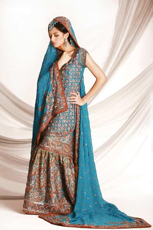 Poročni Walima Obleke za pakistanskih in indijskih dekleta-2222