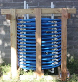 This Is A Nice Job On Heat Exchanger Made From Large Coil Of Pex Pipe Sits In The Solar Storage Tank Potable Water Flows
