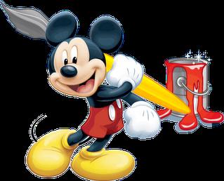 Mickey mouse va a pintar