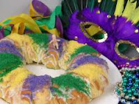 king cake and mask