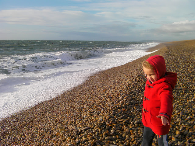 chesil shingle beach dorset, prevailing winds and salt spray