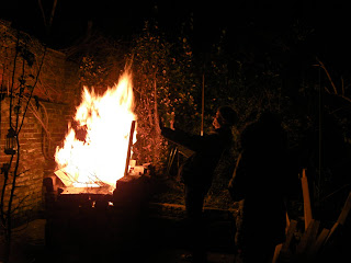 New years' eve bonfire