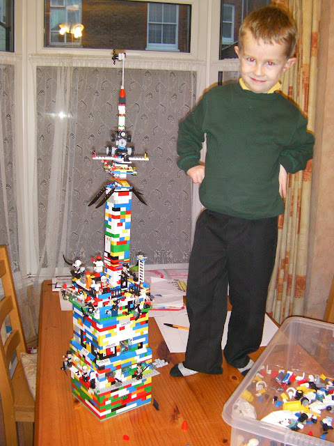 finished article - huge lego tower