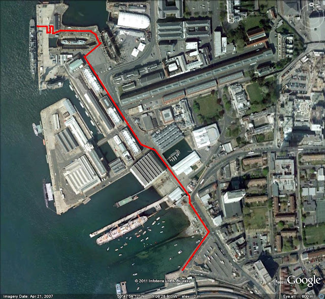portsmouth naval base satellite view