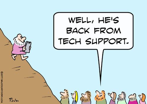 baloo s non political cartoon blog moses tech support cartoon