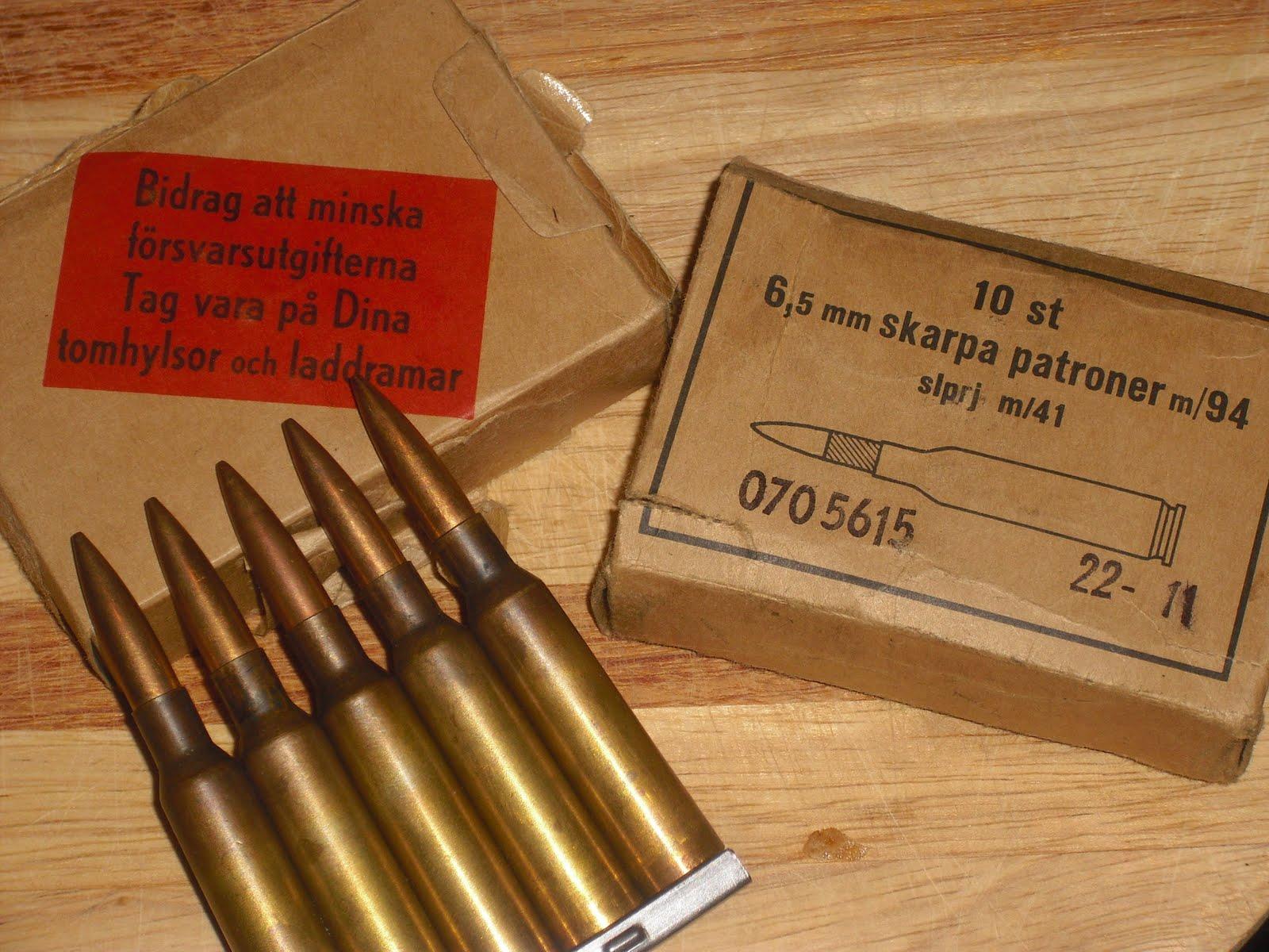swedish mauser some old m 94 surplus ammo