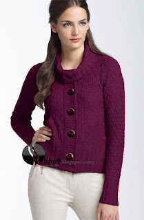 a8ec830e3b Nice woolen stuff in maroon color with little 3D design on the ground of Sweater  gives lasting impression. The dress may also named as High Neck sweater