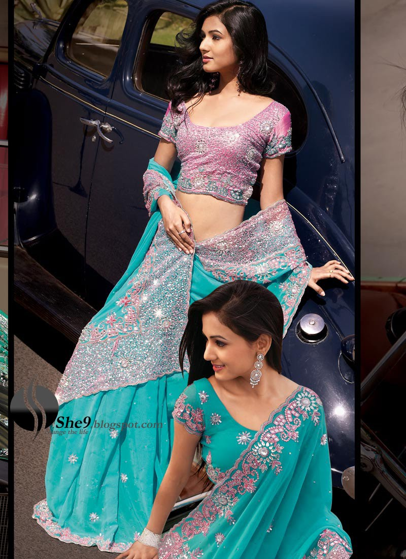 Double Blouse Sarees - She9