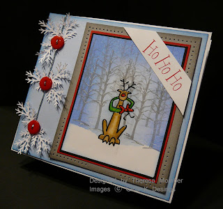 Hand stamped Christmas Card, Gina K Designs
