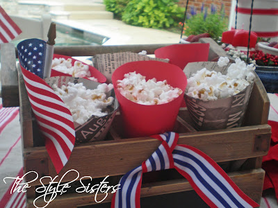 red white and blue tablescape, Memorial Day Table decor, 4th of July table decor,  Red white and Blue